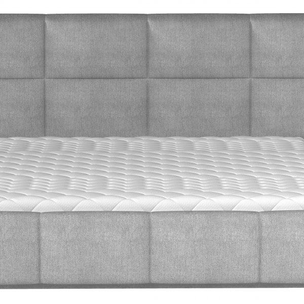 Altik dobbeltseng 140x200 grå stof