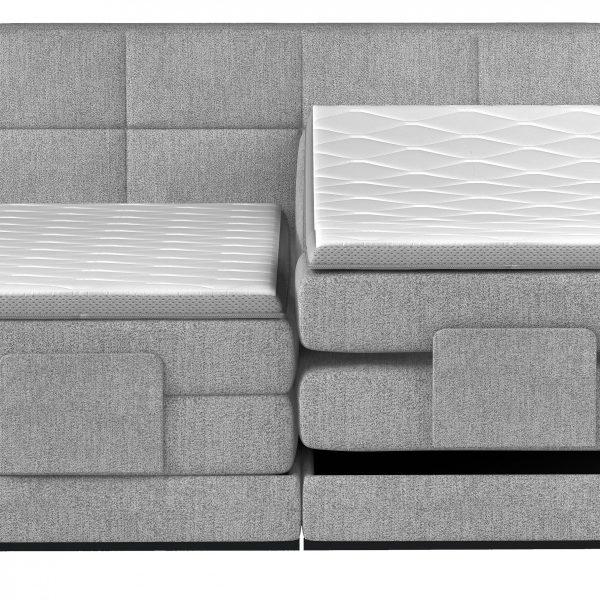 Kalmar Elevationsseng 140x200 grå stof