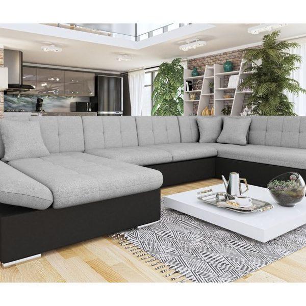 Fantino Ii U- Sofa : Venstre - U, Pu Læder Soft 011 (Sort) + Bristol 2460