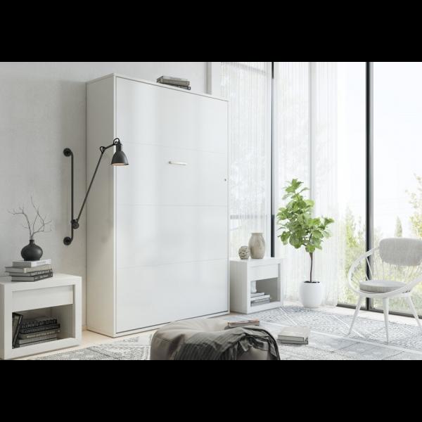 Invento Skabsseng - 140 x 200 Cm : Skab: Hvid, Front: Hvid Mat