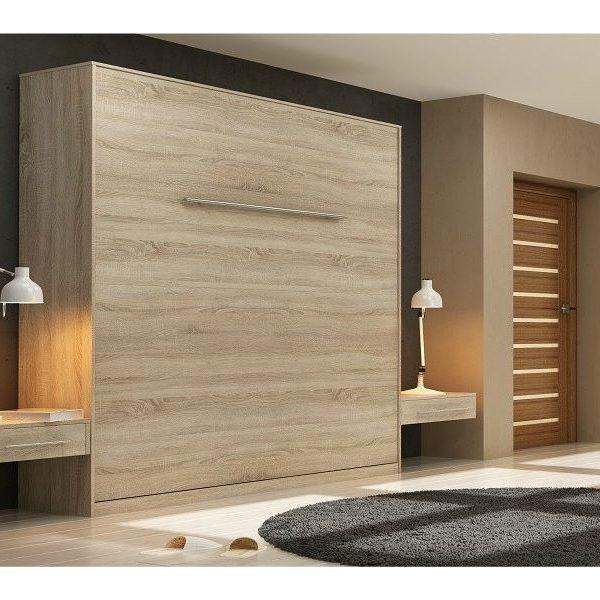 Premium Style Skabsseng 160x200. Lodret- Lys Eg