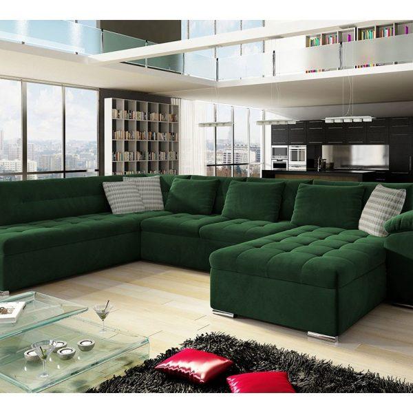 Nordic U-sofa : Højre - U, Uttario Velvet 2952 + Uttario Velvet 2952 + Senegal 823