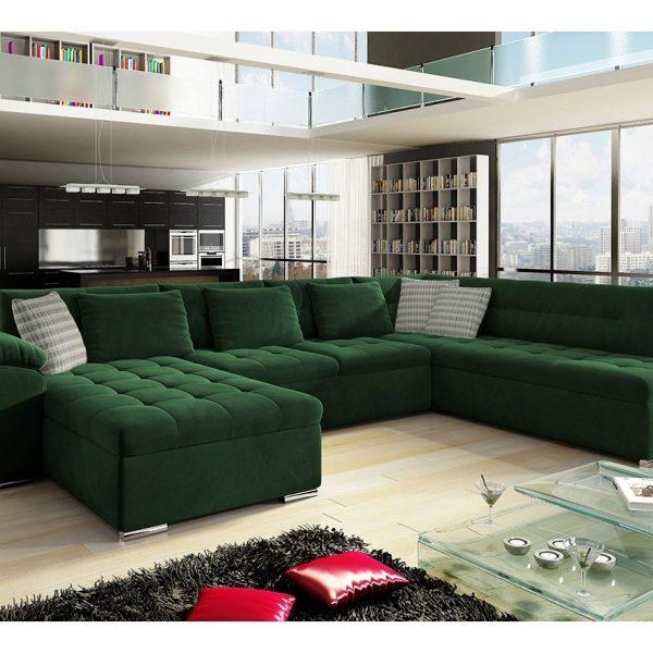 Nordic U-sofa : Venstre - U, Uttario Velvet 2952 + Uttario Velvet 2952 + Senegal 823
