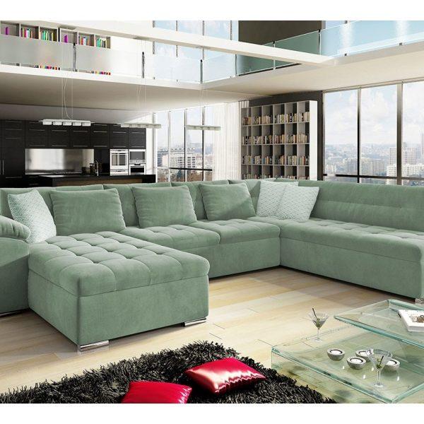 Nordic U-sofa : Venstre - U, Uttario Velvet 2954 + Uttario Velvet 2954 + Evo 29