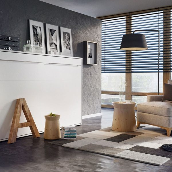 Concept Vægseng : Hvid, 90x200