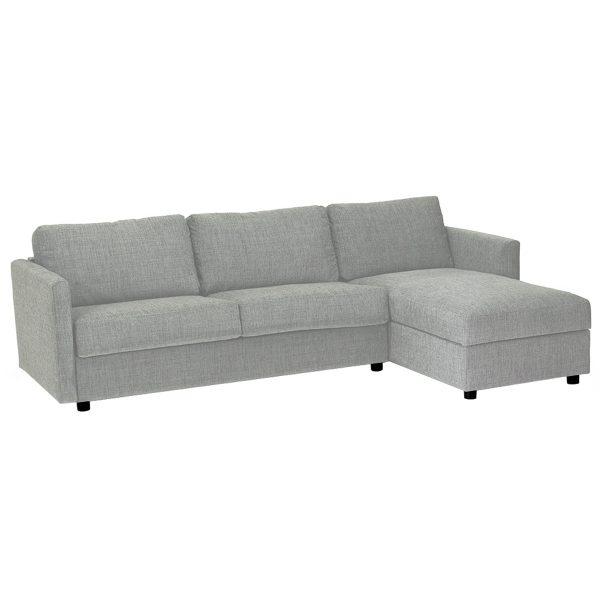 Extra sovesofa 3 pers m/chaise h. bon. Sym LG25