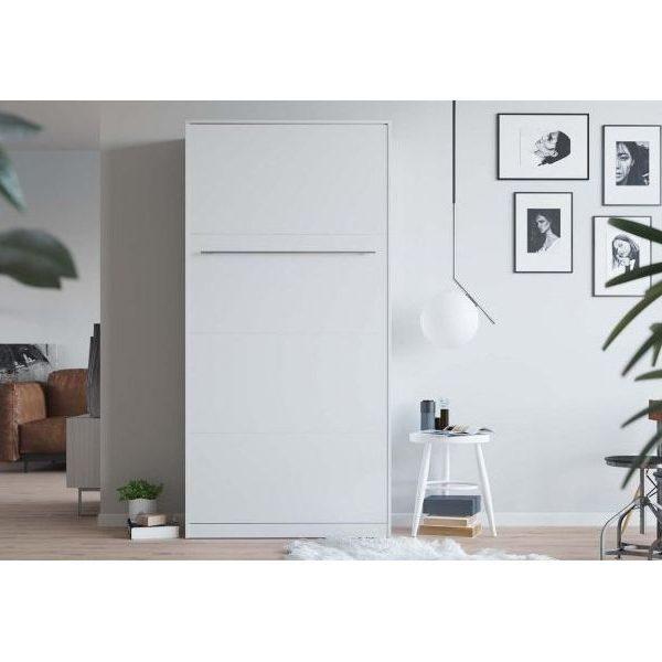 Premium Style Skabsseng 90x200. Lodret- Hvid