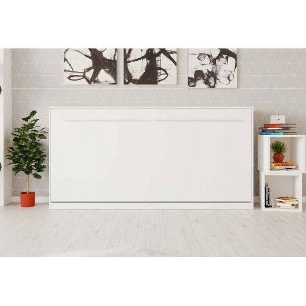 Premium Style Skabsseng 90x200. Vandret- Hvid